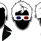 The Doctors Three sticker by RebelArts