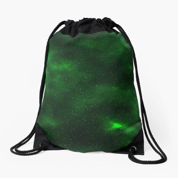 Green Galaxy Drawstring Bag