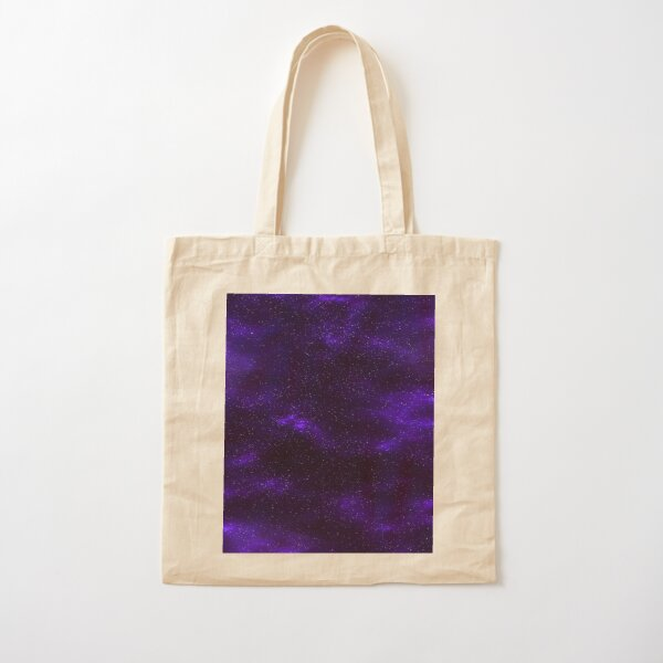 Purple Galaxy Cotton Tote Bag