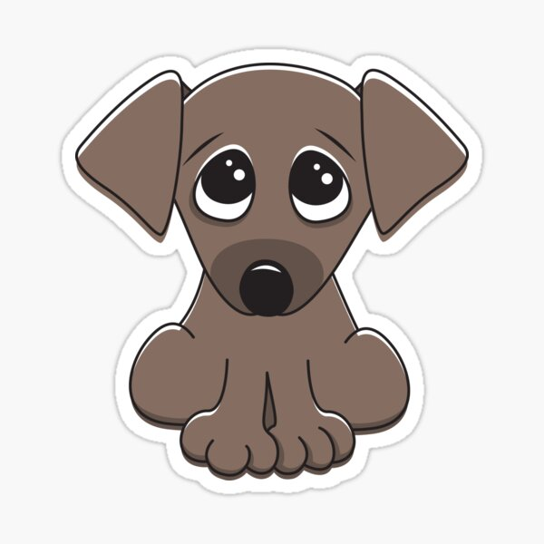 Cute Little Brown Puppy Dog With Long Ears Sticker By Mheadesign Redbubble