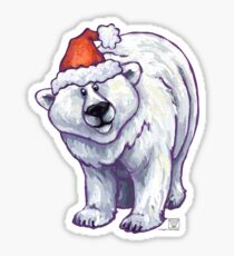 Polar Bear Christmas Sticker