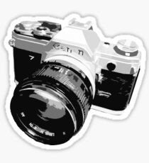 Black and White 35mm SLR Design Sticker