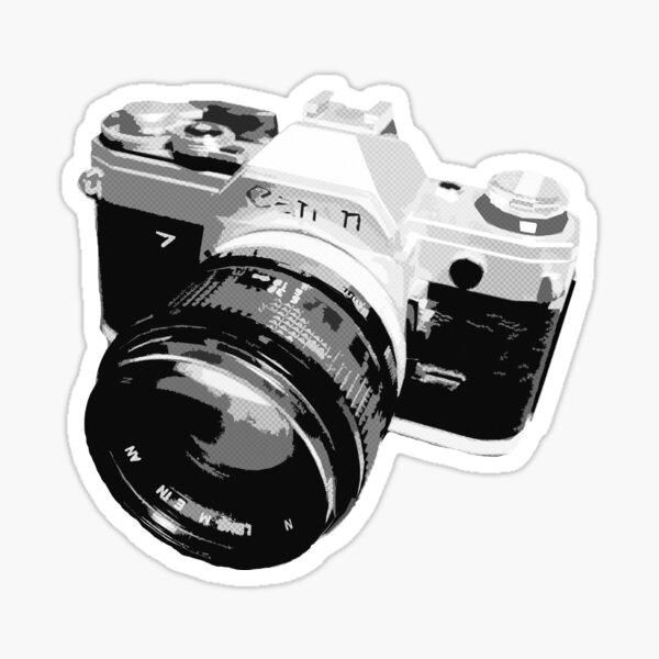 Black and White 35mm SLR Design Sticker