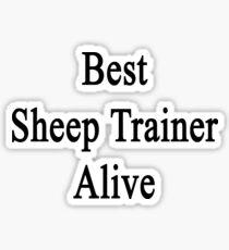 Best Sheep Trainer Alive  Sticker