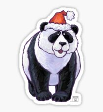 Panda Bear Christmas Sticker