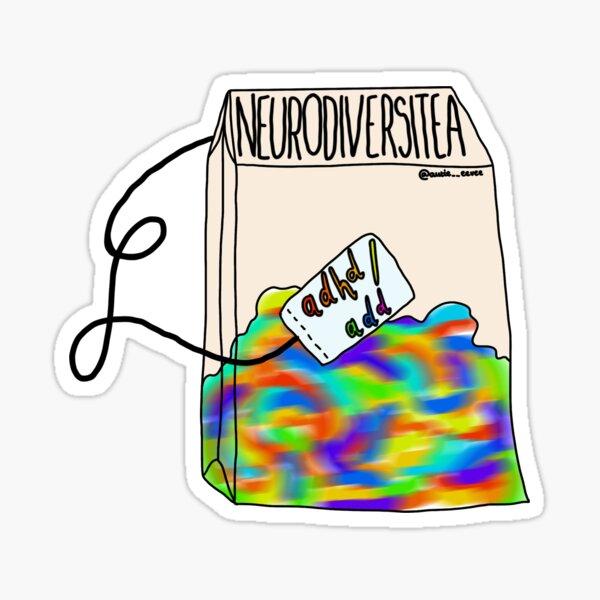 Neurodiversitea Types (ADHD/ADD) Sticker