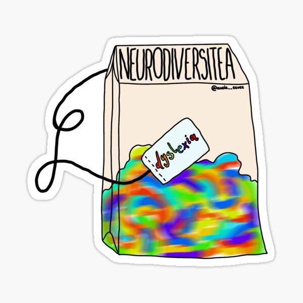 Neurodiversitea Types (Dyslexia) Sticker