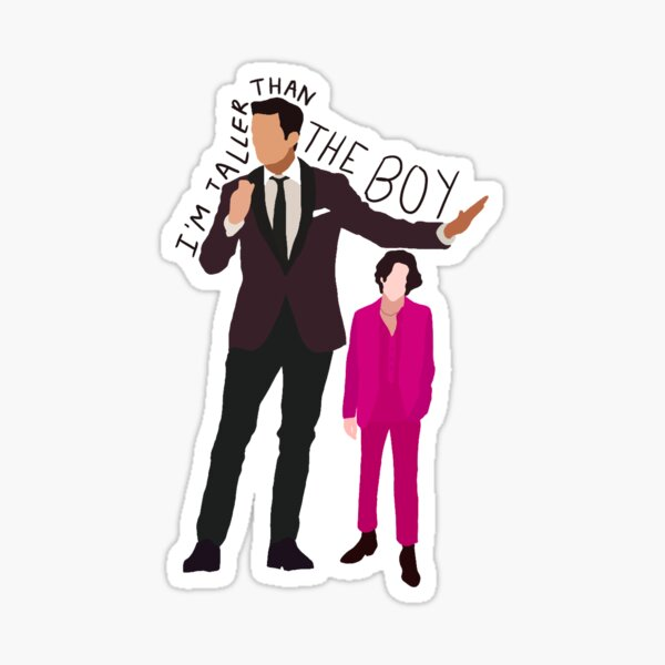 I'm Taller than the Boy Sticker