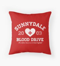 Sunnydale Blood Drive Throw Pillow