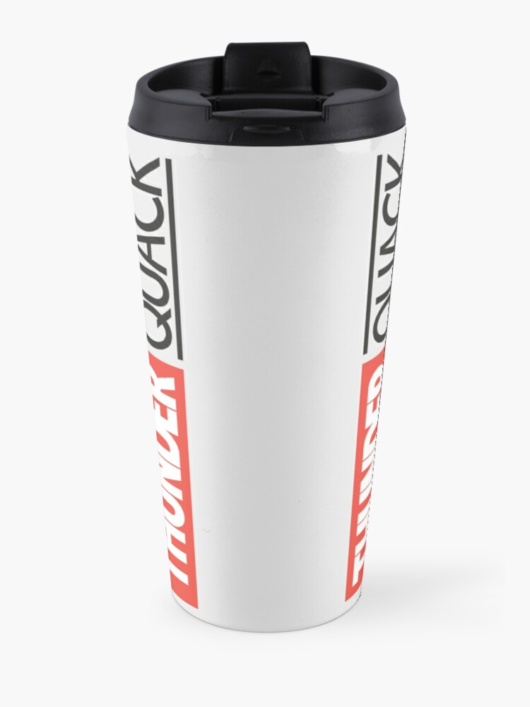 Alternate view of ThunderQuack Cinematic Universe Travel Mug