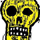 Woodcut Skull by Magnus Sellergren