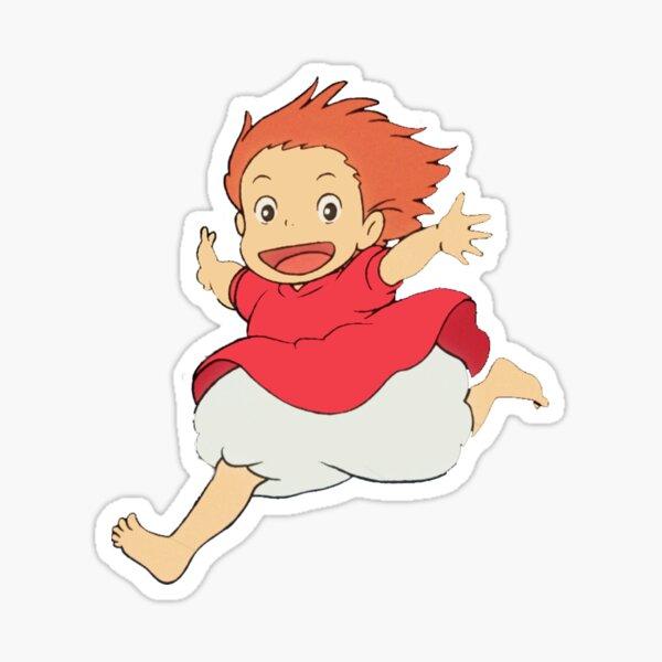 Ponyo Running Sticker