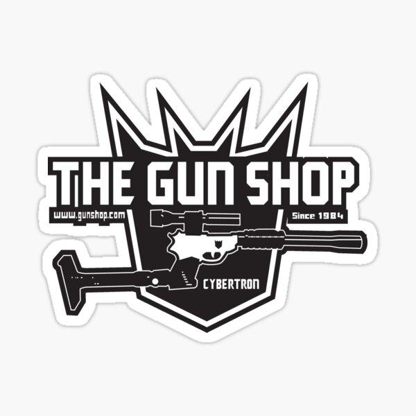 The Cybertron Gun Shop Sticker