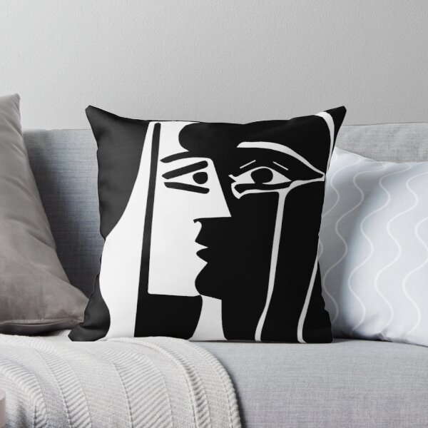 Pablo Picasso - The Kiss - Signature Throw Pillow