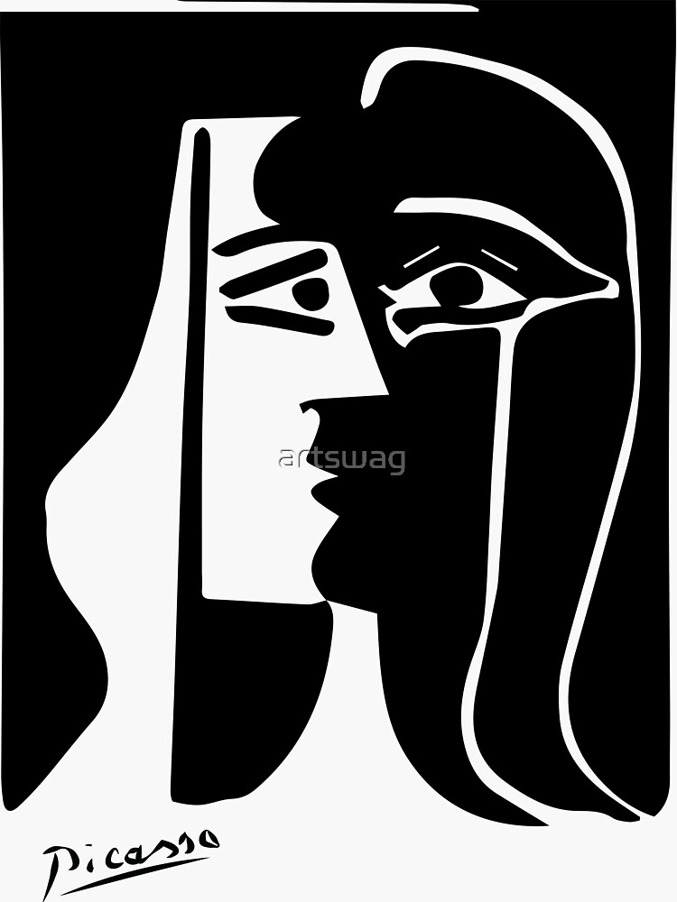 Pablo Picasso - The Kiss - Signature by artswag