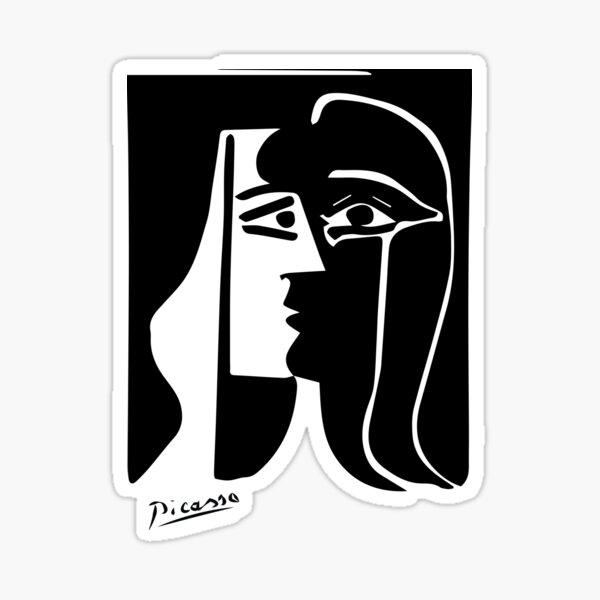 Pablo Picasso - The Kiss - Signature Sticker