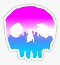 SKYLINE SKULL #2 Sticker