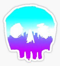 SKYLINE SKULL #4 Sticker