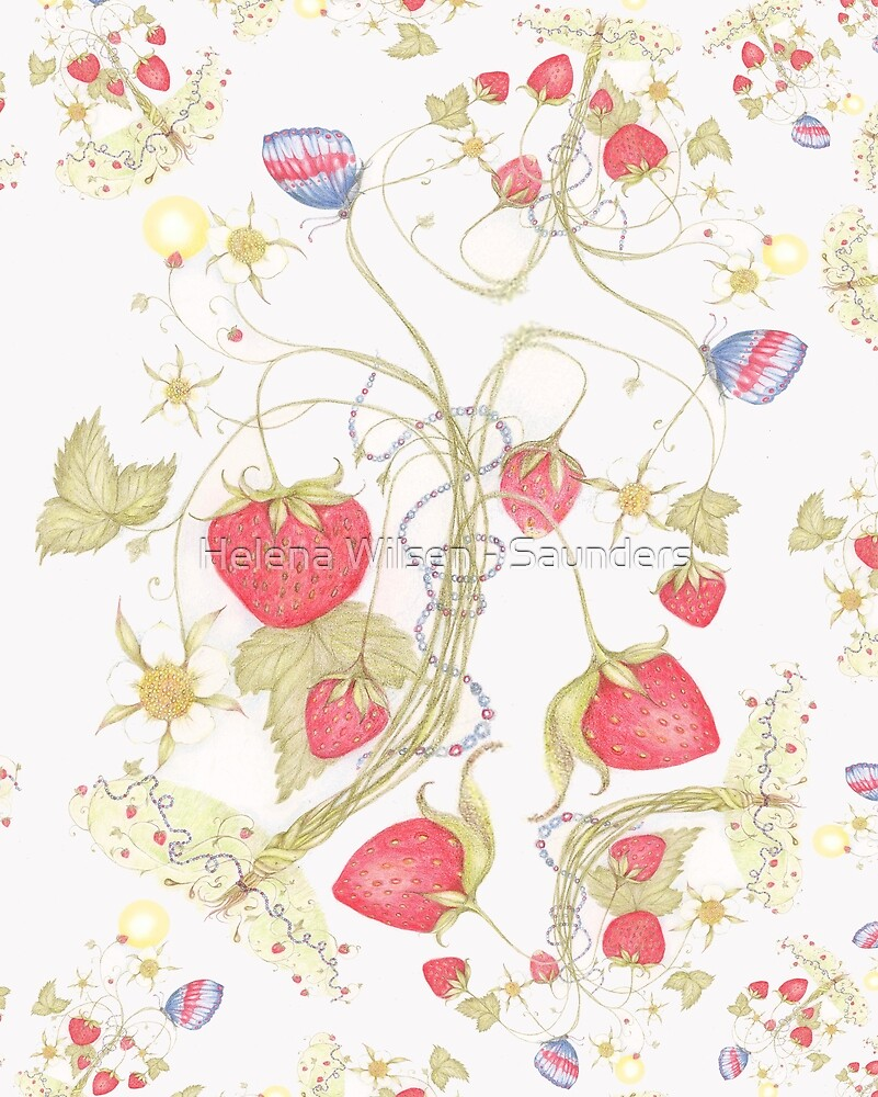 The Jubilee Butterflies and Strawberries by Helena Wilsen - Saunders