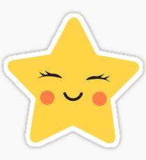 Cute kawaii star sticker Sticker