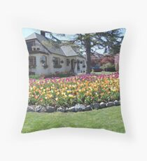 House of Tulips Throw Pillow