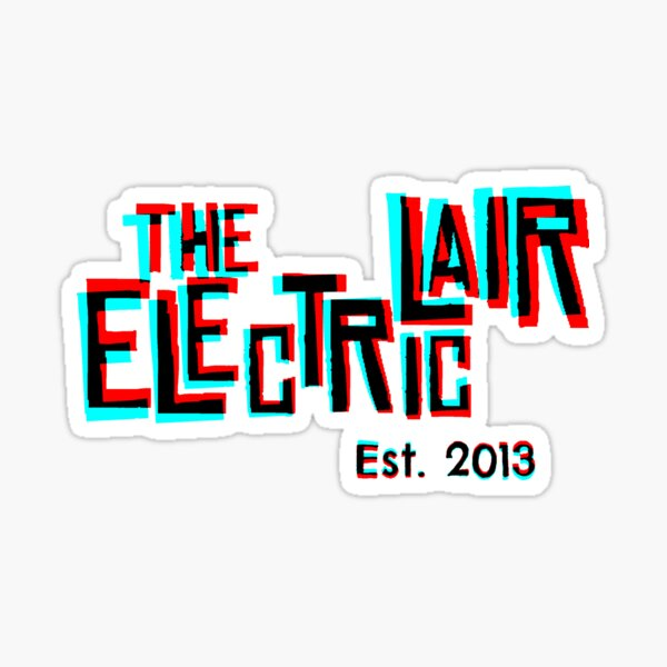 "3D ""The Electric Lair"" Sticker"