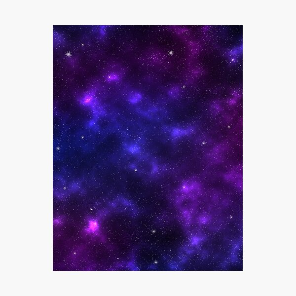 Shades of Purple Galaxy Photographic Print
