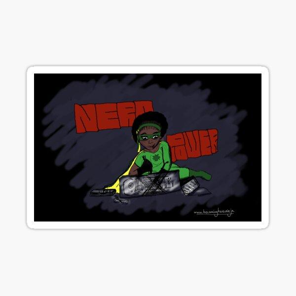 """Becoming Hero - Natasha """"Nerd Power"""" Sticker"""