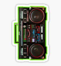 Giant Eighties Boombox Sticker