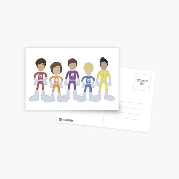 Aventures aventureuses de One Direction Outlines Carte postale
