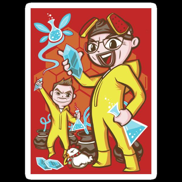 """The Legend of Heisenberg"" (sticker) by Ameda Nowlin"