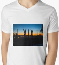 """Twinning"" Men's V-Neck T-Shirt"