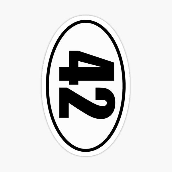 42 - European Style Oval Country Code Sticker Sticker