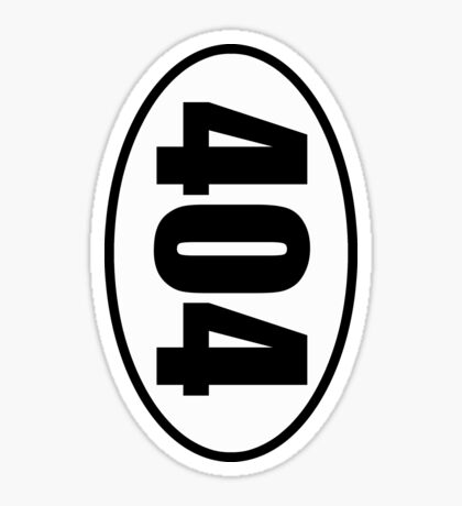 404 Not Found Error - European Style Oval Country Code Sticker Sticker