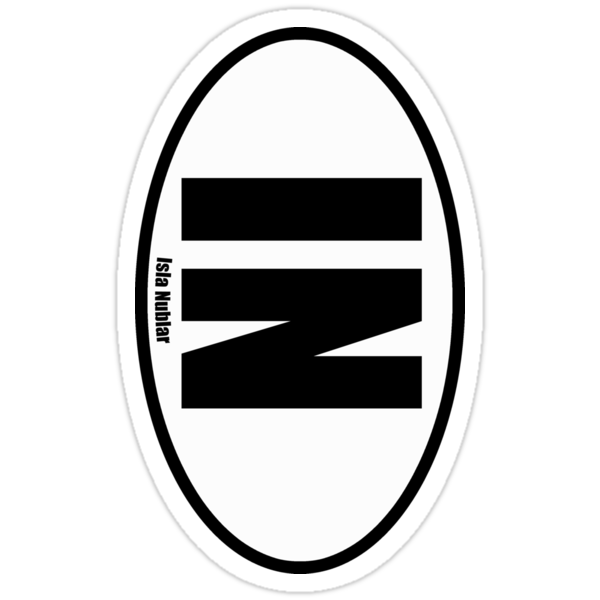 Isla Nublar - European Style Oval Country Code Sticker by fohkat