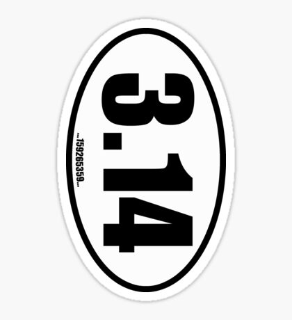 Pi 3.14 - European Style Oval Country Code Sticker Sticker