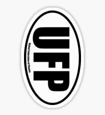 United Federation of Planets - European Style Oval Country Code Sticker Sticker