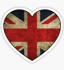 British at Heart Sticker