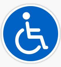 Blue disabled symbol, round stickers Sticker