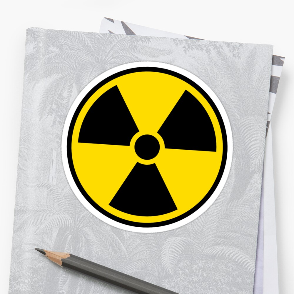 Quot Nuclear Radiation Symbol Black Border Quot Stickers By Mhea
