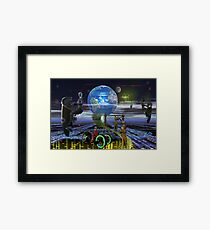 future/past present time paradox Framed Print