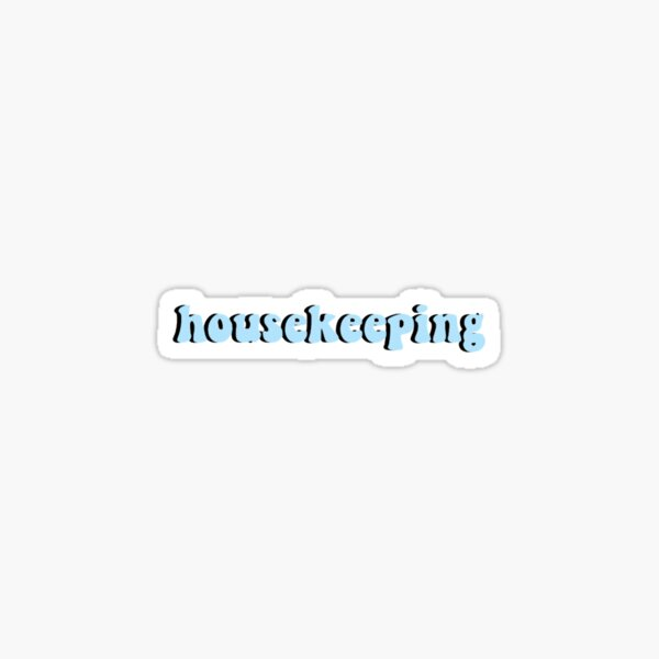 Outer Banks Housekeeping Blue Sticker