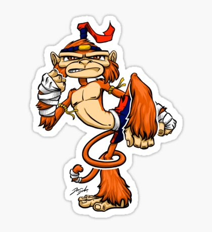 Muay Thai Monkey Sticker