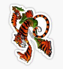 Tai Chi Tiger Sticker