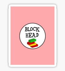 BLOCK HEAD Sticker