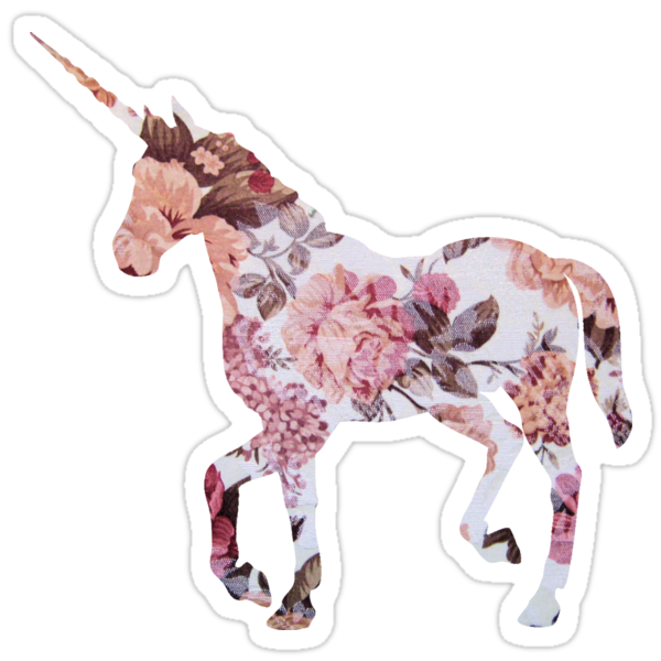 Quot Floral Unicorn 1 Quot Stickers By Superfluff Redbubble