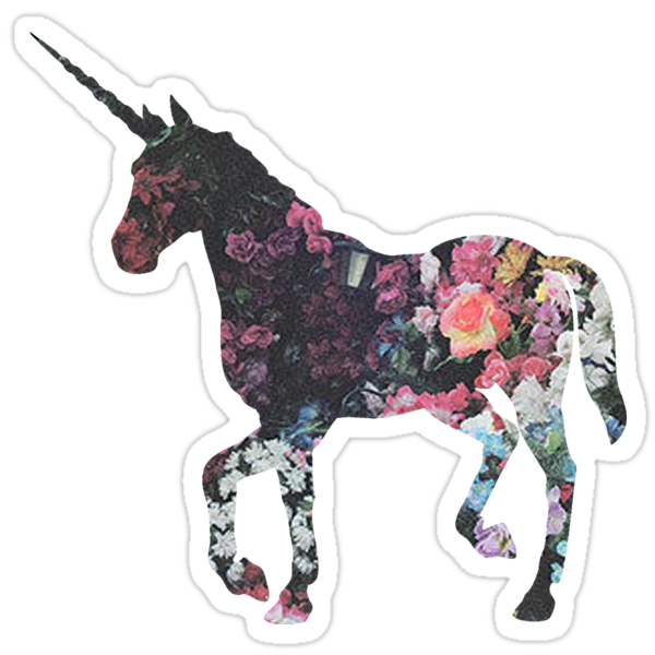 u0026quot floral unicorn 3 u0026quot  stickers by superfluff