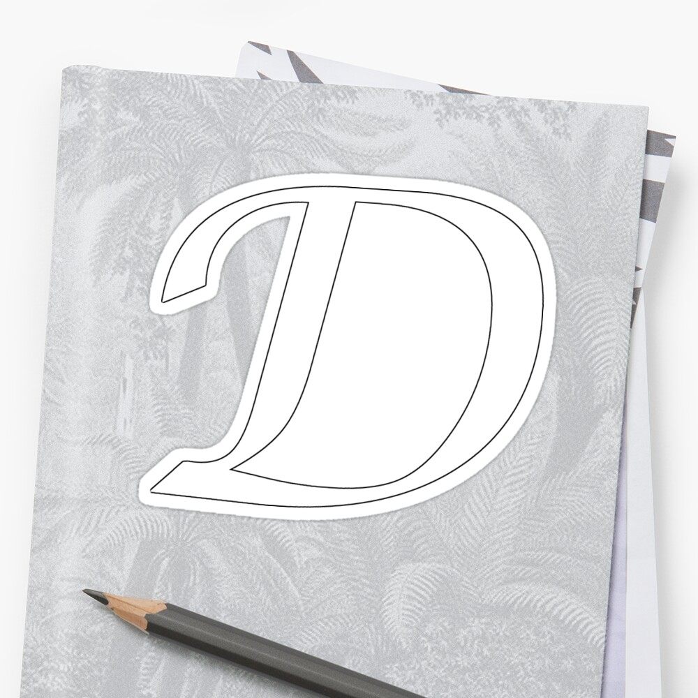 """Calligraphy Letter """"D"""" by Richard Heby"""