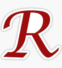 "Calligraphy Letter ""R"" Sticker"