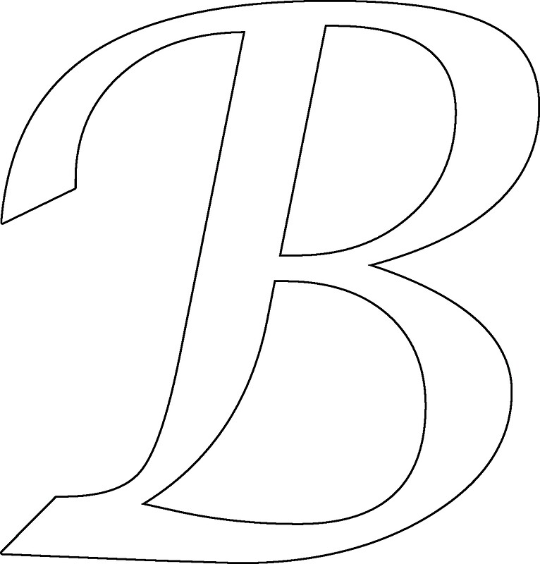 Calligraphy Letter B Stickers By Richard Heby Redbubble